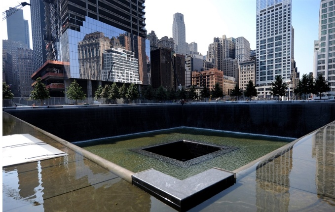 Why would they put a falling down fountain at ground - Ground zero pools ...